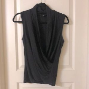 Theory wrap front blouse